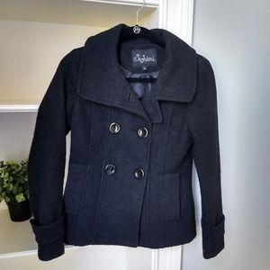 Nordstrom SASHIMI Pea Coat Size Small Black